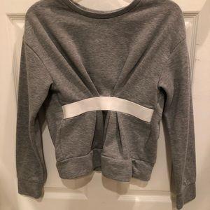 Gray sweatshirt with taping